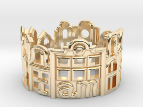 Amsterdam Ring - Gift for Traveler in 14K Yellow Gold: 5 / 49