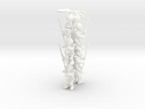 Goblin Spearman Squad in White Processed Versatile Plastic