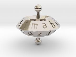 Space alphabet in Rhodium Plated Brass