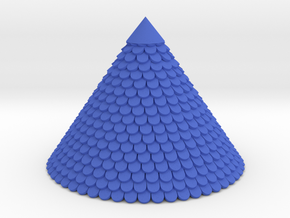Roof with tiles 54mm hight  Diameter ~73mm in Blue Processed Versatile Plastic