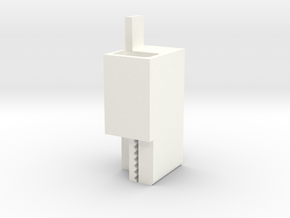 Carriage Plate-Belt Connector V1 in White Processed Versatile Plastic