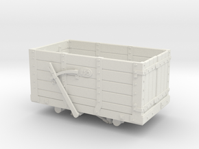 FR Wagon No. 130 7mm Scale in White Natural Versatile Plastic