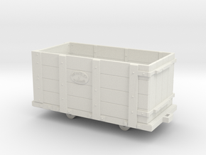 Oakeley Quarry Wagon 7mm Scale in White Natural Versatile Plastic