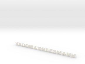 16 Cm  Vroom & Dreesmann 3d Print in White Strong & Flexible Polished