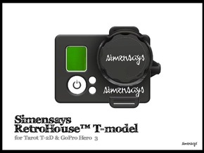 Simensays RetroHouse™ T-model in Black Natural Versatile Plastic