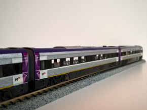 N.02A - Part A - V/Line V'Locity DMU Carriage - in Smooth Fine Detail Plastic