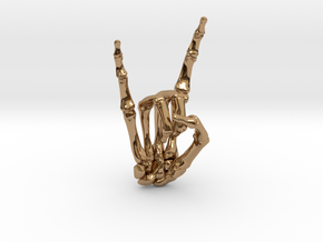 Devil Horns Right Hand in Polished Brass