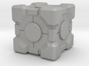 """Weighted Portal Cube - Flat - 1"""" (100% Accurate) in Aluminum"""