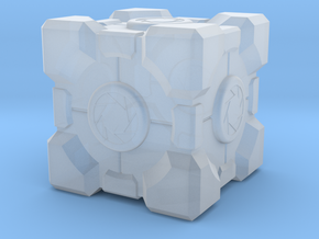 """Weighted Portal Cube - Aperture 1"""" (100% Accurate) in Smooth Fine Detail Plastic"""