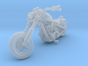 Harley Motorcycle Chopper 28mm miniature in Smooth Fine Detail Plastic