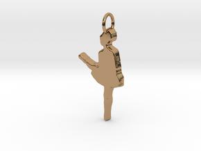 Irish Dancer Pendant in Polished Brass