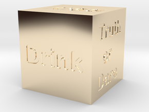 Dice of party crazy and challenges in 14k Gold Plated Brass