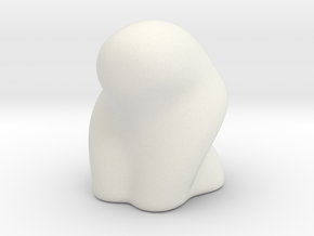 DRAW paperweight - curvaceous in White Natural Versatile Plastic: Small