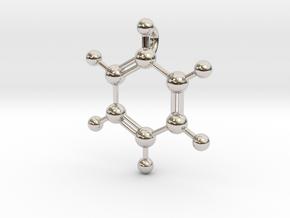 Benzene Pendant in Platinum