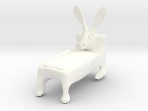 Rabbed2 in White Processed Versatile Plastic
