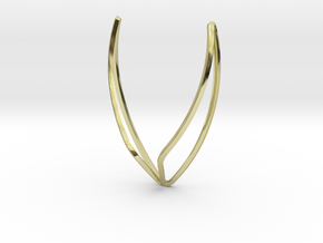 Big Wings Necklace in 18k Gold Plated Brass