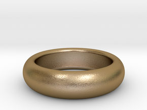 custom made  request Plain Ring size11 20.2mm in Polished Gold Steel