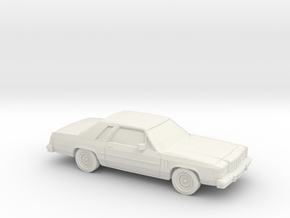 1/87 1979-87 Mercury Grand Marquis LS Coupe in White Natural Versatile Plastic