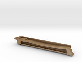 Violin Bow Tiepin in Matte Gold Steel