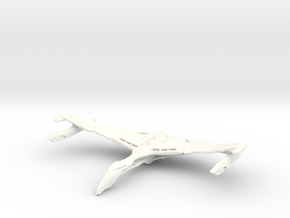 Valdore Class Refit Warbird Wings Up in White Processed Versatile Plastic