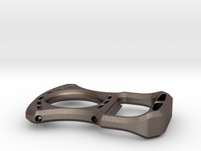 Fatback bottle opener (Perfect for EDC) in Polished Bronzed Silver Steel