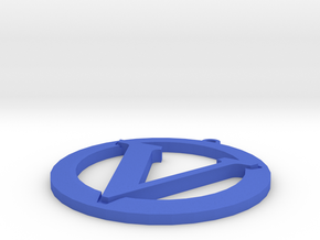 Vegan Symbol in Blue Processed Versatile Plastic