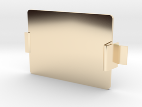 MIDI Sprout Battery Door 001 (snap) in 14k Gold Plated Brass