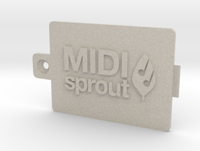 MIDI Sprout Battery Door 002a in Natural Sandstone