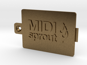 MIDI Sprout Battery Door 002a in Natural Bronze