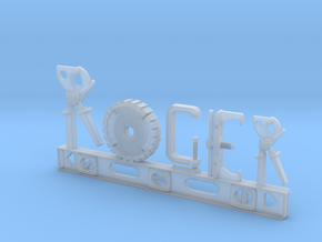 Roger Nametag in Smooth Fine Detail Plastic