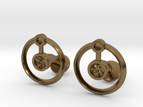 Hydrogen Cufflink in Polished Bronze