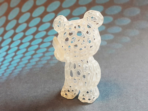 Phoneholic Bear Pendant - Big in Smooth Fine Detail Plastic