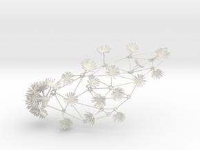 Dandelion Necklace in White Natural Versatile Plastic