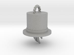 Magician's Hat Pendant in Aluminum