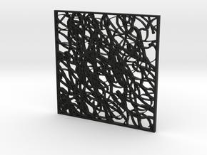 Scribble 1 in Black Natural Versatile Plastic