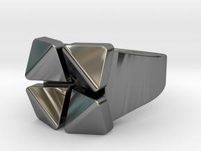 Box Flower - Precious Metals & Plastics in Fine Detail Polished Silver