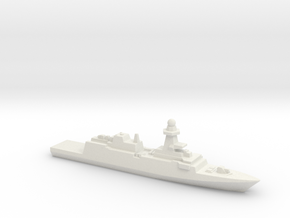 Bergamini-Class FFG (2011), 1/3000 in White Natural Versatile Plastic