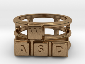 WASD Ring in Natural Brass: 8 / 56.75