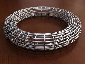 Bangle Bracelet Lattice 2 in White Natural Versatile Plastic