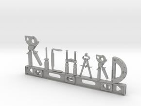 Richard Nametag in Aluminum
