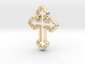 Cross Charm - 11mm in 14K Yellow Gold