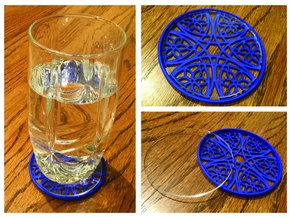"3-1/4"" Coaster 2 (Insert) in Blue Processed Versatile Plastic"