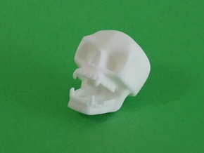 Small Wall-skull in White Natural Versatile Plastic