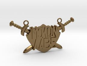 'Molon Labe' Pendant in Polished Bronze