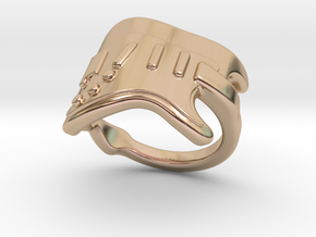 Electric Guitar Ring 21 - Italian Size 21 in 14k Rose Gold Plated