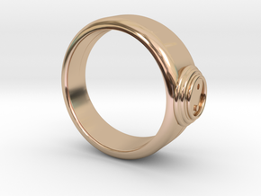 Ø0.800 inch/Ø20.32 Mm Ying Yang Model in 14k Rose Gold