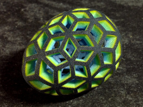 Mosaic Egg #10 in Smoothest Fine Detail Plastic