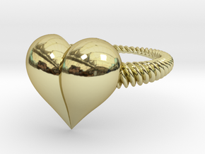 Size 9 Heart Ring in 18k Gold