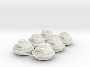 Hagglunds CA140 in White Natural Versatile Plastic: 1:33