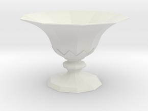 Goblet 4d in White Strong & Flexible